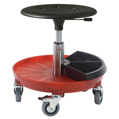 Kappa Rollerstool Nylon Base W/2 Toolboxes Seat Height 54-80 Cm