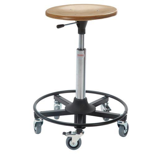 Jupiter Rollerstool Steel Base Seat Height 54-80 Cm