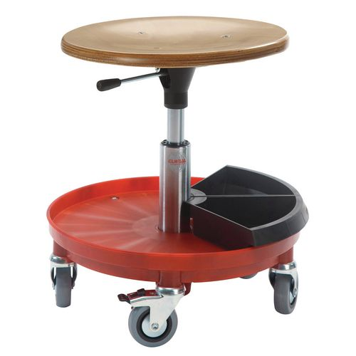 Jupiter Rollerstool Nylon Base W/2 Toolboxes Seat Height 54-80 Cm
