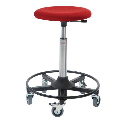 Beta Rollerstool Steel Base Seat Height 54-80 Cm