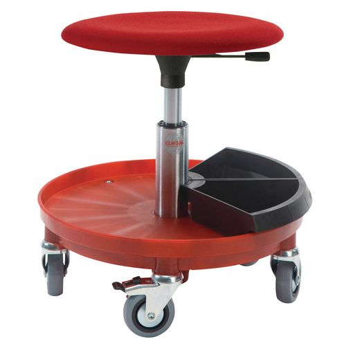 Beta Rollerstool Plastic Base Base W/2 Toolboxes Seat Height 54-80 Cm