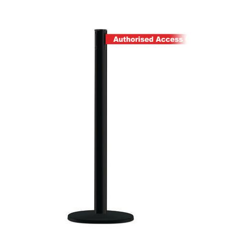 Advance Post In Black With Authorised Access Only Webbing