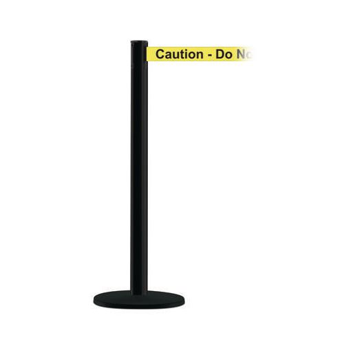 Advance Post In Black With Caution Do Not Enter Webbing