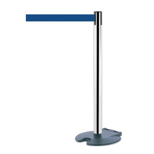 Rollabarrier Post In Stainless Steel With 2.3M Blue Webbing