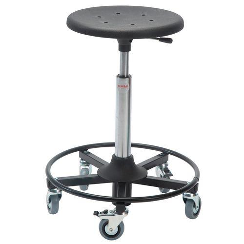 Sigma Rollerstool Steel Base Seat Height 54-80 Cm