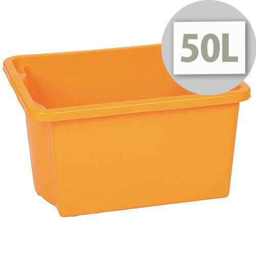 Stack &Store Box 50L Yellow - Lightweight stack and nest box - Without Lid