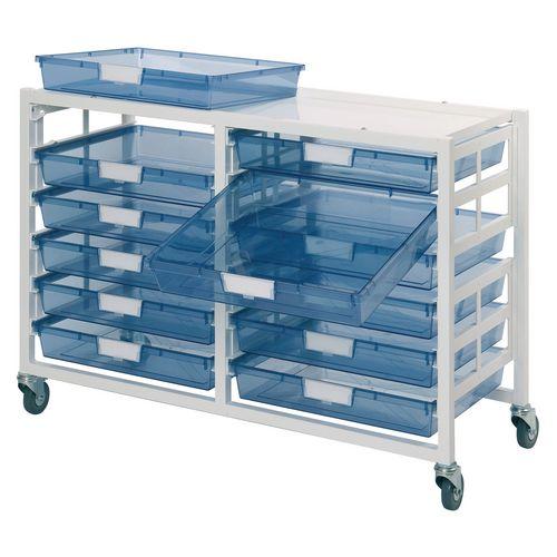 Tray Storage Unit 12 Tray Clear A3 1060X455X740 Grey Frame
