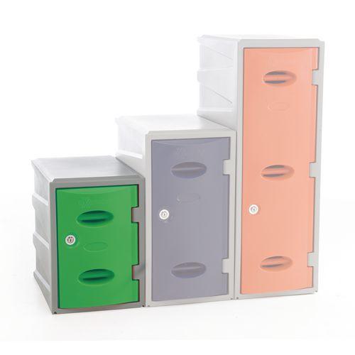 Im Plastic Locker 450Hx320Wx460mm deep Green Key Lock