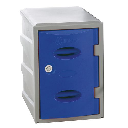 Im Plastic Locker 450Hx320Wx460mm deep Blue Swivel Catch