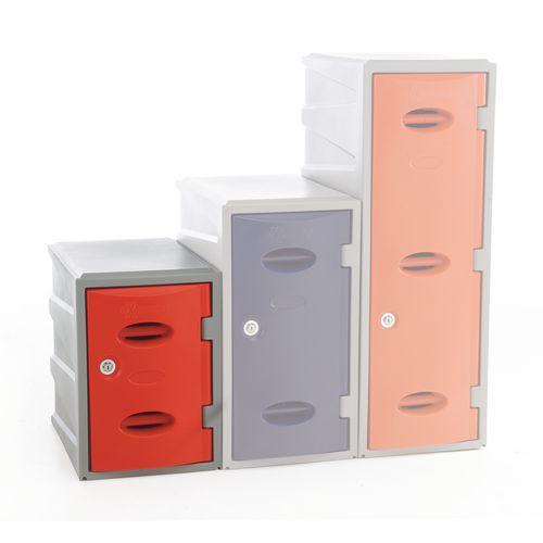 Im Plastic Locker 450Hx320Wx460mm deep Red Swivel Catch