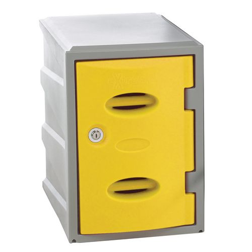 Im Plastic Locker 450Hx320Wx460mm deep Yellow Swivel Catch