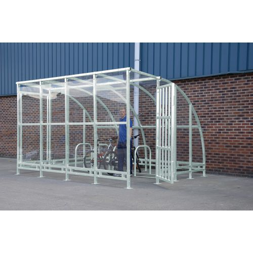 Kenilworth Porch Cycle Shelter 4000mm Wide Cycle Shelter Powder Coated Decorative Steel Door
