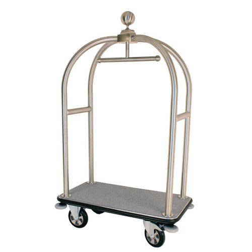 Stainless Steel Bird Cage Luggage Trolley