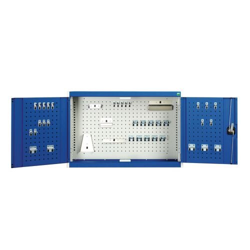Wall Cupboard 1000 High With 40 Piece Hook Set