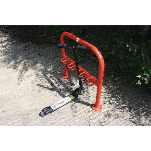 Scooter Rack To Hold 4 Galv + Coated Red