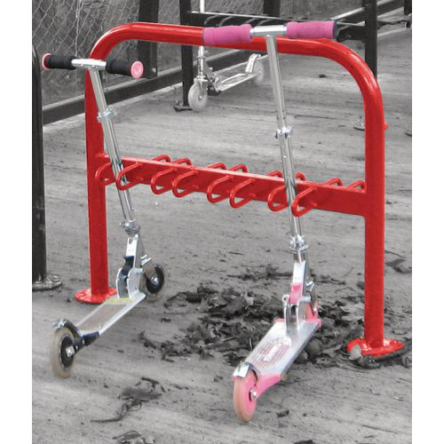 Scooter Rack To Hold 8 Galv + Coated Red
