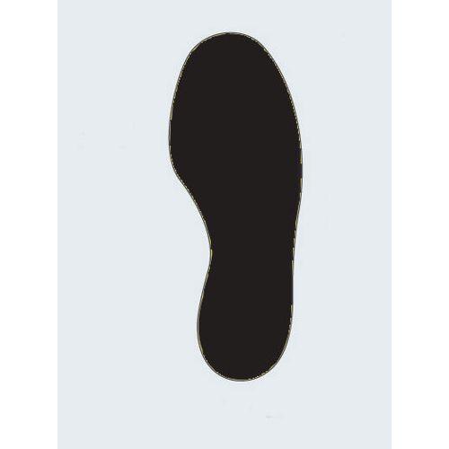 Floor Signal Black Markers Feet 300X100mm Pk 10 (5 Left/5 Right)