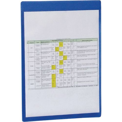 Self-Adhesive Blue Document Pocket Id 310X215mm