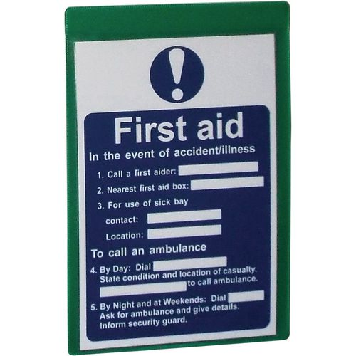 Self-Adhesive Green Document Pocket Id 215X160mm
