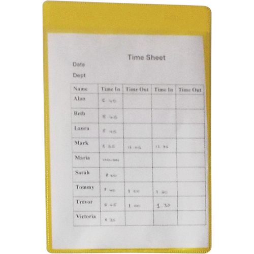 Self-Adhesive Yellow Document Pocket Id 215X160mm