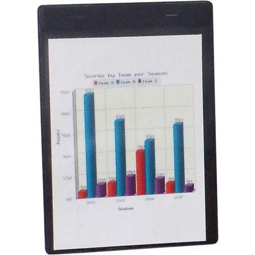Magnetic Black Document Pocket Id215X160mm