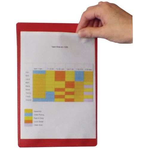Magnetic Red Document Pocket Id 215X160mm
