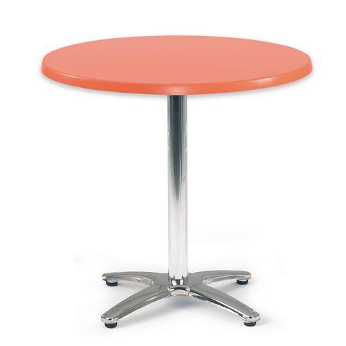 Spectrum Circular Table 700mm Dia Tilt Top Orange