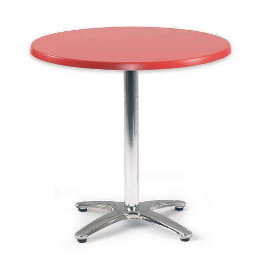 Spectrum Circular Table 700mm Dia Dark Red