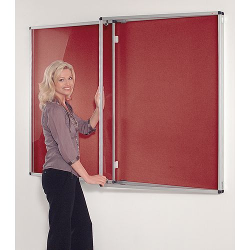 Tamperproof Noticeboards 1200X900 Burgundy Board