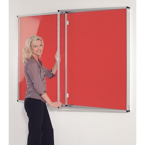 Tamperproof Noticeboards 1200X900 Red Board