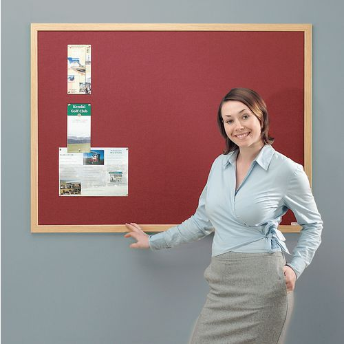 Eco-Friendly Noticeboards 1200X1200 Burgundy Board