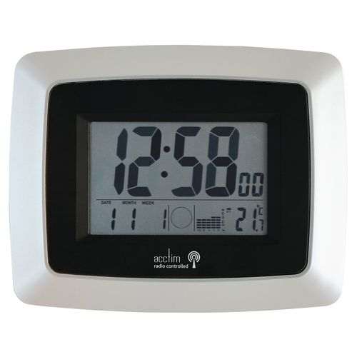 Avanti Lcd Radio Controlled Wall Clock