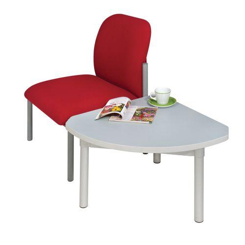 Enviro Quadrant Coffee Table Silver Anodised Frame Grey Top Light Grey Edge