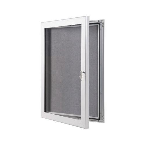 A0 Lockable Outdoor Pin Board With Grey Felt