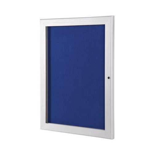 A0 Lockable Outdoor Pin Board With Blue Felt