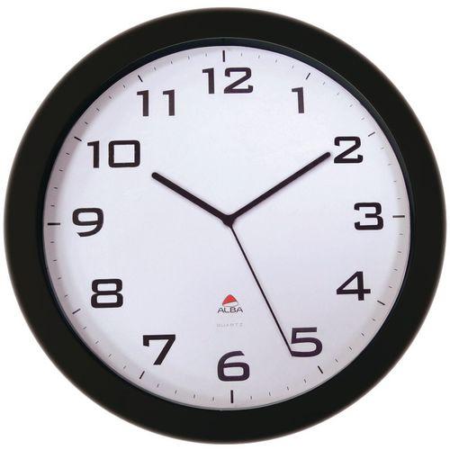 Large 38Cm Silent Quartz Clock Black
