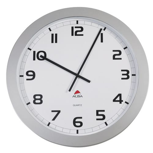 Extra Large 60cm Diameter Silent Quartz Wall Clock Silver