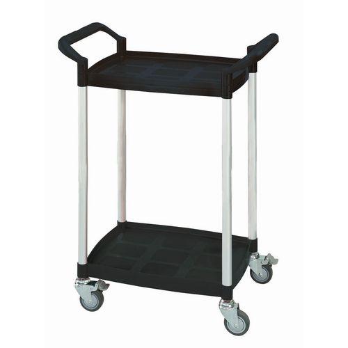 Mini 2 Shelf Service Cart Black