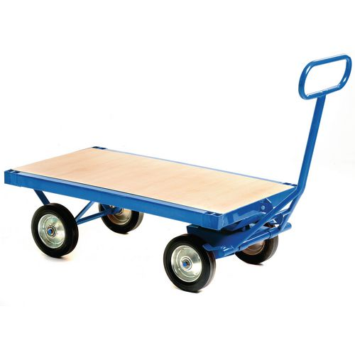 Heavy Duty Turntable Truck With Flat Deck And No Brakes