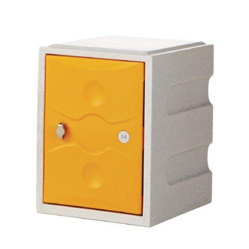 1 Door Mini Plastic Locker Plus Waterproof Yellow Door