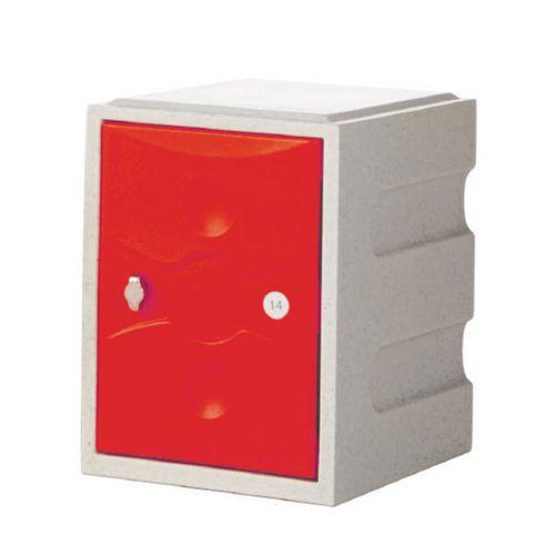 1 Door Mini Plastic Locker Plus Waterproof Grey Door
