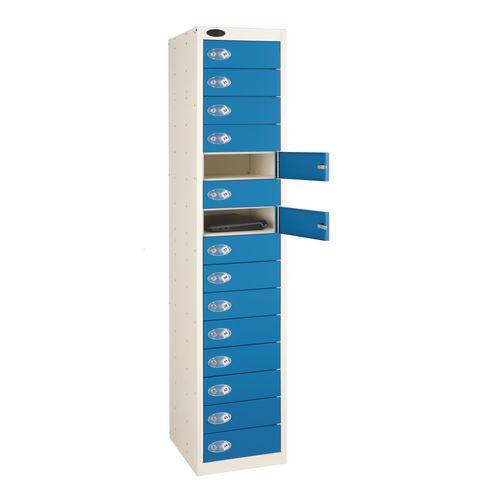 15 Door Store Locker White Body &Blue Door