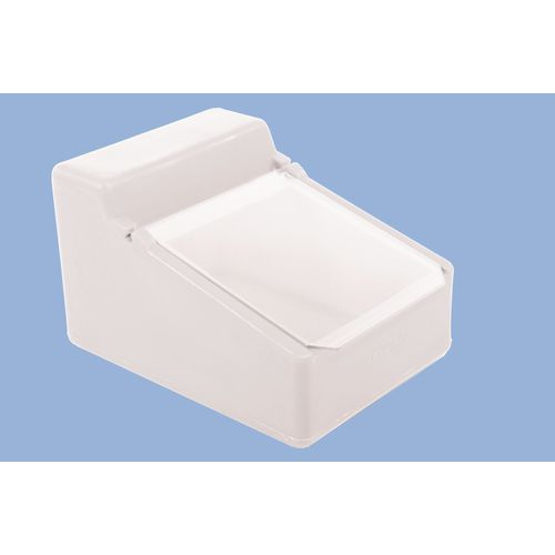 Table Top Storage And Dispense Container With Clear Flap Natural
