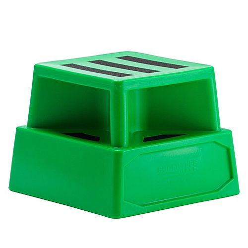 Heavy Duty Plastic Step Green