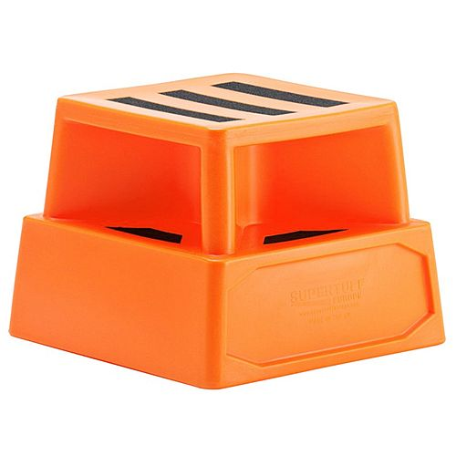 Heavy Duty Plastic Step Orange