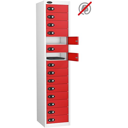15 Door Store Locker White Body &Red Door