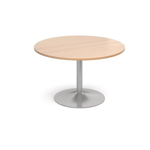 1200 Dia Circular Trumpet Base Boardroom Table 25mm Top Beech