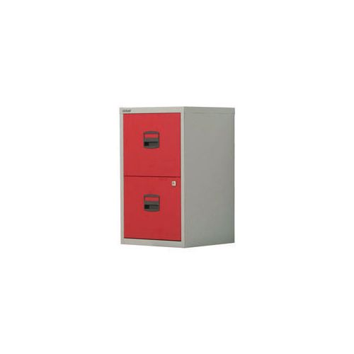 Bisley Pfa Home Filer 2xFiling Drawers Grey &Red