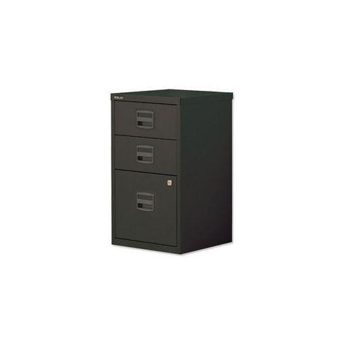 Bisley Pfa Home Filer 1xFiling 2xStationery Drawers Black