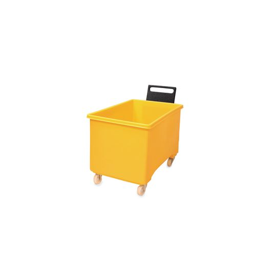 Box Mobile Pallet Yellow927X584X508mm With Handle 2F+2Swx102 Ny+Tg